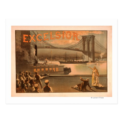 """Puente """"virutas para rellenar """" de New York City Tarjetas Postales"""