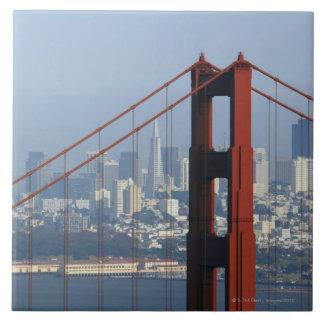 Puente visto San Francisco del Golden Gate del can Azulejo Cuadrado Grande