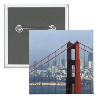 Puente visto San Francisco del Golden Gate del can Pin Cuadrada 5 Cm