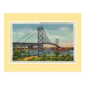Puente Windsor Canadá del embajador de Detroit del Tarjetas Postales