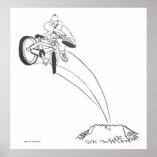 Puente x de la suciedad del estilo libre de BMX en Impresiones