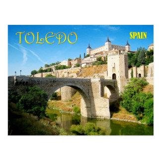 Puente y Alcazar de Alcantara en Toledo, España Tarjetas Postales