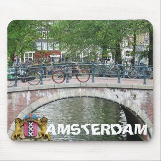 Puente y bicicletas Mousepad de Amsterdam