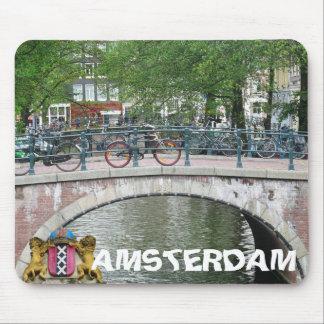 Puente y bicicletas Mousepad de Amsterdam Alfombrillas De Ratones
