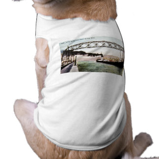 Puente y canal aéreos, Duluth, Minnesota Playera Sin Mangas Para Perro