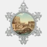 Puente y canal, Venecia, Italia Adorno De Peltre En Forma De Copo De Nieve