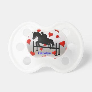 Puente y corazones lindos del caballo chupetes de bebe