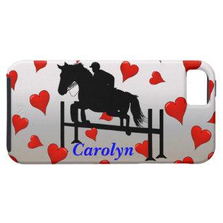 Puente y corazones lindos del caballo iPhone 5 Case-Mate cárcasas