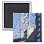 Puente y edificios, San Francisco de la bahía Imán Cuadrado