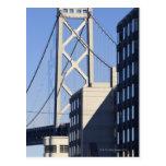 Puente y edificios, San Francisco de la bahía Tarjetas Postales