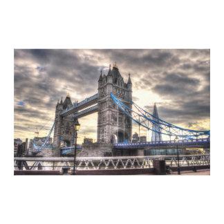 Puente y el casco, Londres, Inglaterra de la torre Impresiones En Lienzo Estiradas