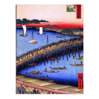 Puente y el gran Riverbank (両国橋大川ばた) de Ryōgoku Postales