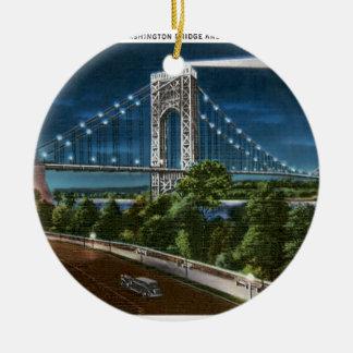 Puente y el río Hudson de Washington Adorno De Reyes