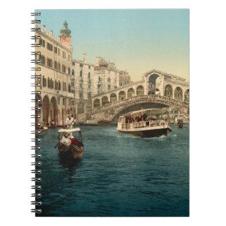 Puente y Gran Canal, Venecia de Rialto Cuaderno