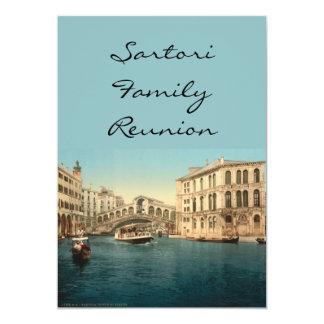 """Puente y Gran Canal, Venecia, Italia de Rialto Invitación 5"""" X 7"""""""