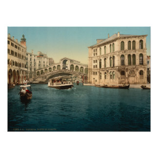 Puente y Gran Canal, Venecia, Italia de Rialto Posters