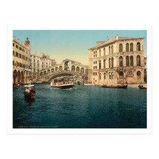 Puente y Gran Canal, Venecia, Italia de Rialto Postales