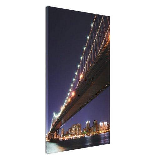 Puente y horizonte, New York City de Manhattan Impresión De Lienzo