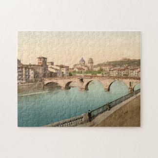 Puente y San de piedra Jorge Verona Italia Puzzles