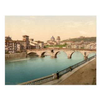 Puente y San de piedra Jorge Verona Italia Tarjetas Postales