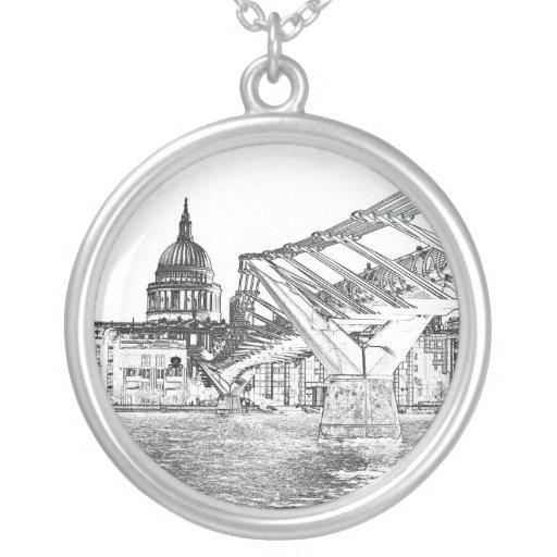 Puente y St Pauls del milenio Colgante Redondo