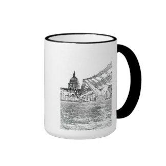 Puente y St Pauls del milenio Tazas De Café