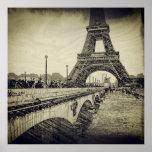 Puente y torre Eiffel, París, Francia de Jena Impresiones