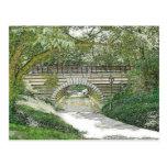 Puente y trayectoria del Central Park Tarjeta Postal