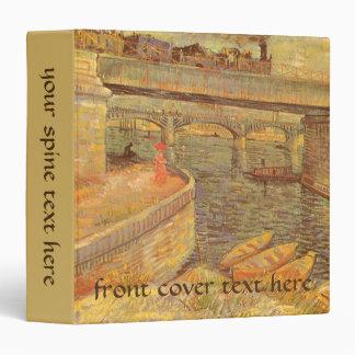 """Puentes a través del Sena de Vincent van Gogh Carpeta 1 1/2"""""""