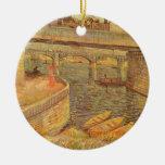 Puentes a través del Sena de Vincent van Gogh Ornamento De Reyes Magos