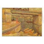 Puentes a través del Sena de Vincent van Gogh Felicitación