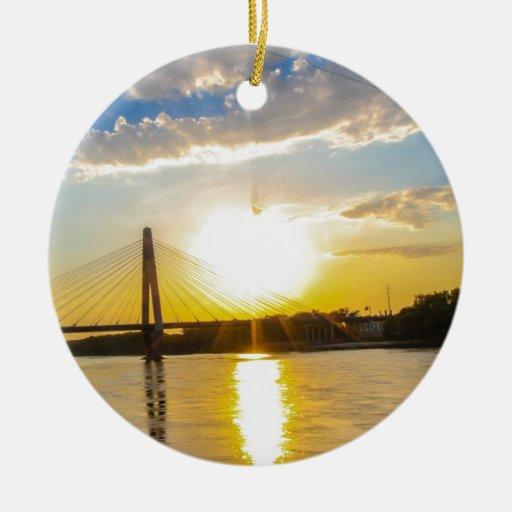 Puentes Adorno Redondo De Cerámica