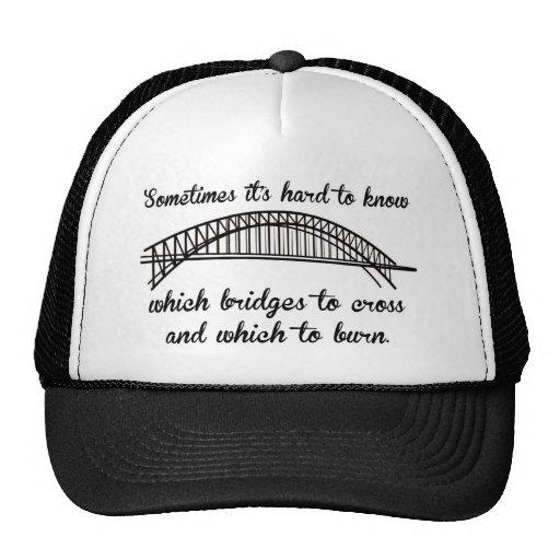 Puentes ardientes gorras de camionero