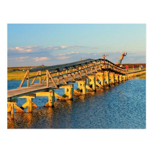 Puentes Cape Cod del paseo marítimo del bocadillo Postal