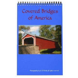 Puentes cubiertos del calendario de pared de