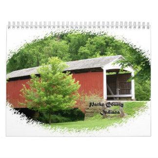 Puentes cubiertos del condado de Parke Indiana Calendario