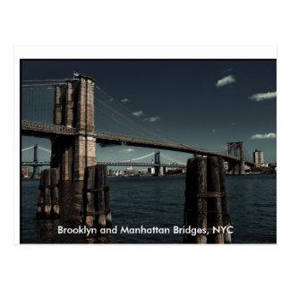 Puentes de Brooklyn y de Manhattan Brooklyn y hor Postal