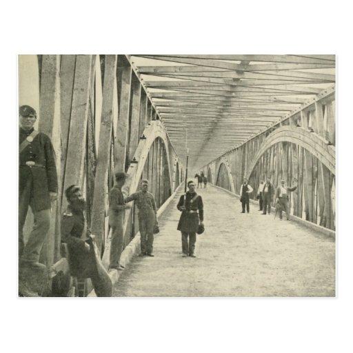 Puentes de cadena y largos tarjeta postal