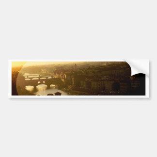 Puentes de Florencia Pegatina De Parachoque
