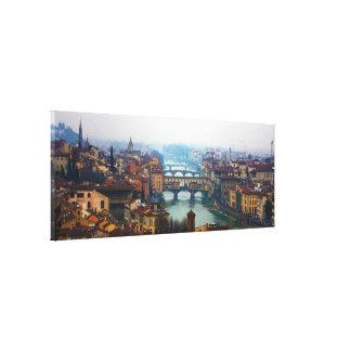 Puentes de Florencia Italia Impresión En Lona