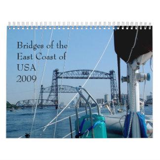 Puentes de la costa este de los E E U U 2011 Calendarios