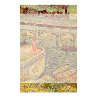 Puentes de Van Gogh a través del Sena en Asnieres Papelería De Diseño