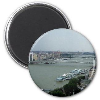 Puentes del Danubio Imán Redondo 5 Cm