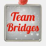 Puentes del equipo adornos de navidad