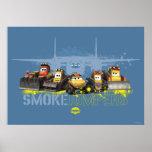 Puentes del humo gráficos poster