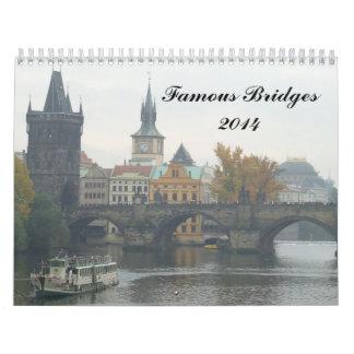 Puentes famosos 2014 calendarios de pared