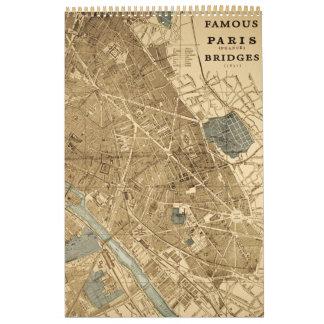 Puentes famosos Pont Neuf de París Francia del vin Calendarios De Pared