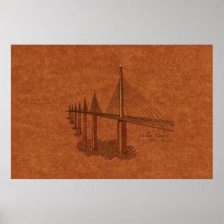 Puentes: Viaducto de Millau, Francia Póster