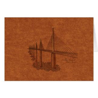 Puentes: Viaducto de Millau, Francia Tarjeta De Felicitación