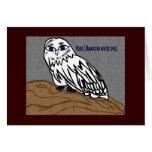 Pueo hawaiian white owl cards